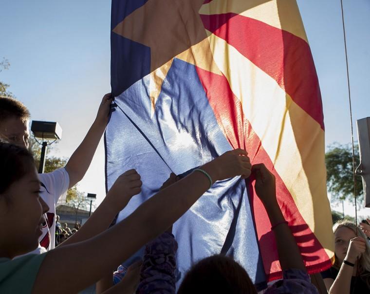 Lomas Flag Raising