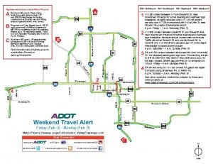 Weekend Freeway Alert Feb. 3-6