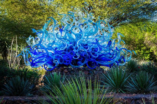 Dale Chihuly, Blue Fiori Sun