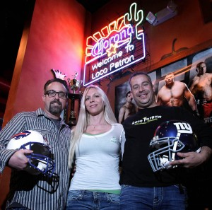 <p>New owners of Loco Patron William and Tiffaney Duffy and Edward Fernandez </p>