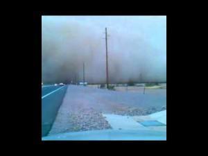 Mesa dust storm