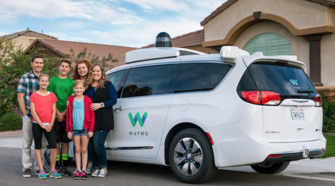 Ted and Candace, along with their kids Abbi, Brielle, Izzy and Trey, have been busy riding in a Waymo van.