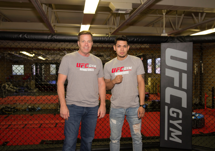 Adrian Cortez, left, and Rob Kelly are general manager and owner, respectively, of the new UFC gym that has opened on Ray Road in Ahwatukee.