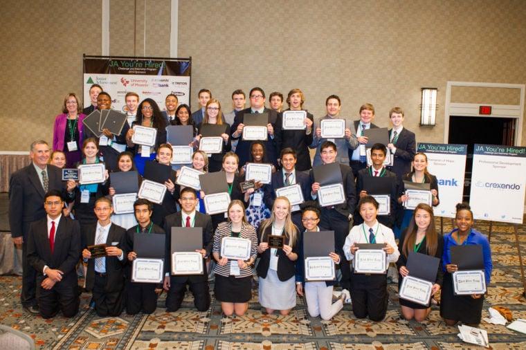 Desert Vista wins multiple awards at Junior Achievement You're H