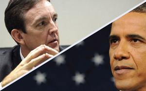 Arizona Secretary of state Ken Bennett, President Barack Obama