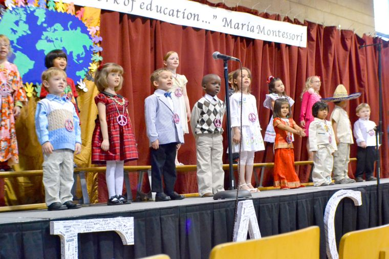 Preschool program centered around peace at Keystone Montessori