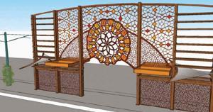 Alma School Road art concept