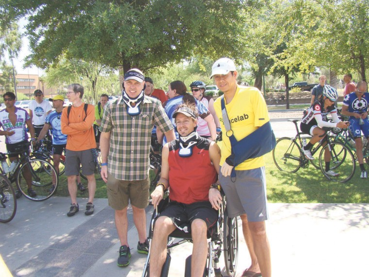 Injured cyclist rally