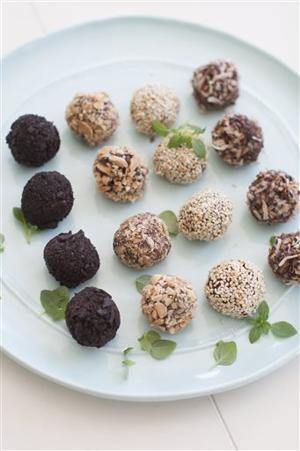 Food Basil Truffles