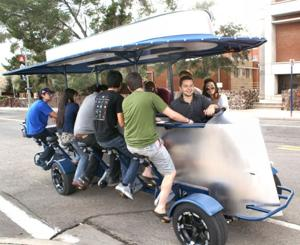 Pedal powered quadricycle