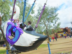 Arizona Renaissance Festival swan ride