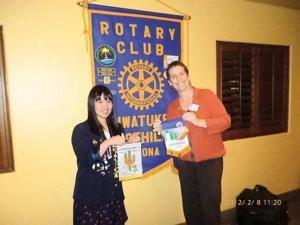 Ahwatukee Foothills Rotary Club, Hiroshima Rotary exchange flags