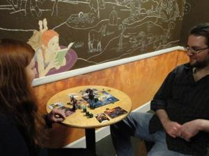 Board games at Book Maze