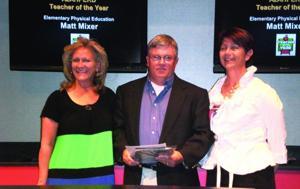 Matt Mixer named P.E. Teacher of the Year