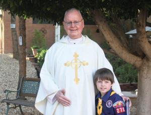 Rev. Albert Francis Hoorman with Aidan Benek