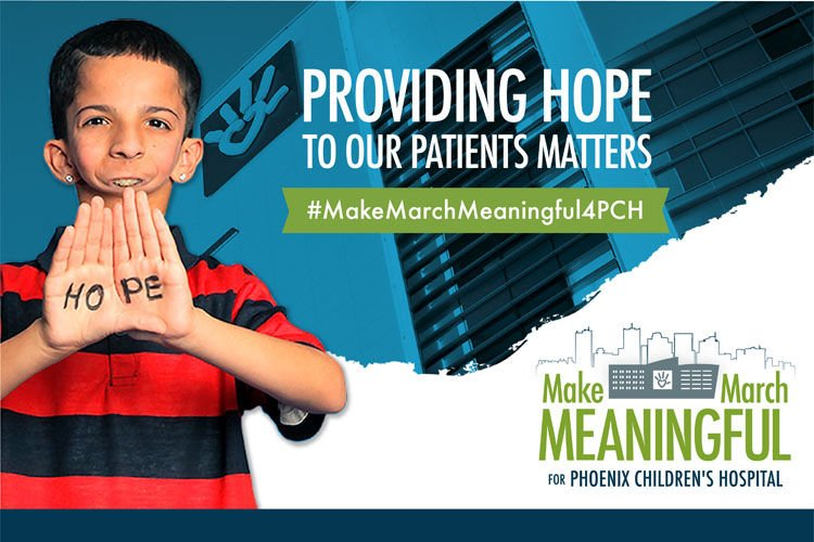 Children's Hospital Foundation's Make March Meaningful campaign.