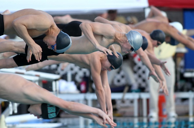 swimmers and salespeople diving right in