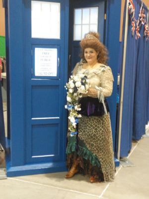 Gail Antoinette in her custom 'Doctor Who' inspired dress