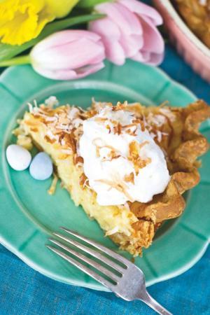 Easter coconut cream pie
