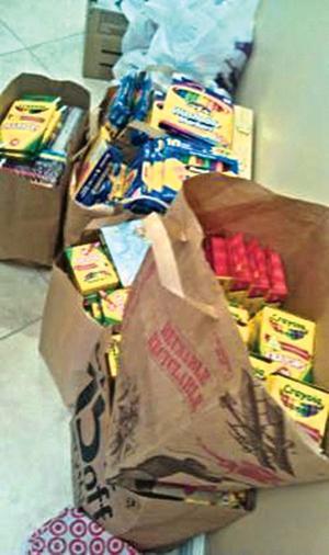 Art supplies for Joplin, Miss.