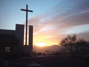 Lamb of God Lutheran Church sunrise Easter service