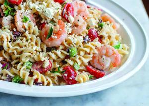Greek Shrimp and Feta Pasta Salad