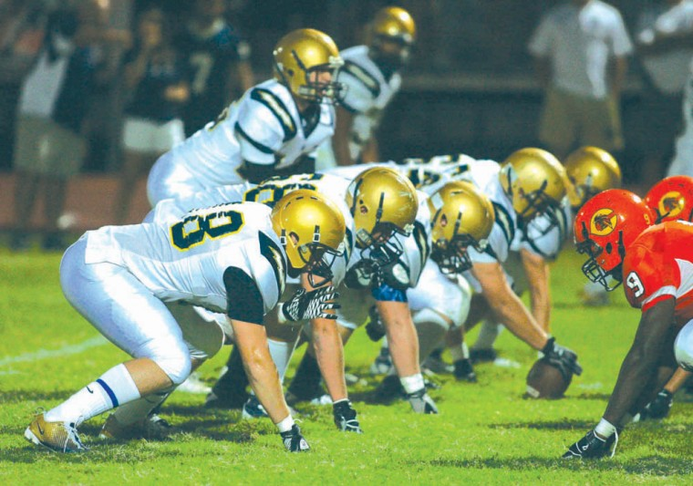 Desert Vista's offensive line