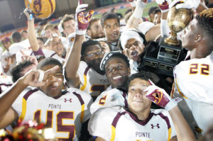 <p>Mountain Pointe players are getting awfully good at hoisting trophies.</p>
