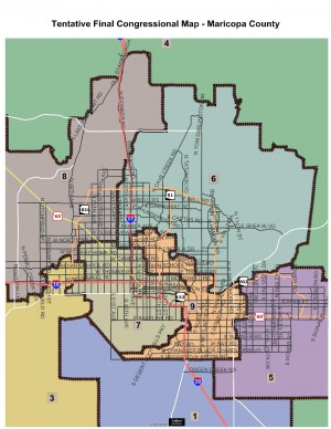 Maricopa County Congressional Redistricting Map -- Dec. 21, 2011