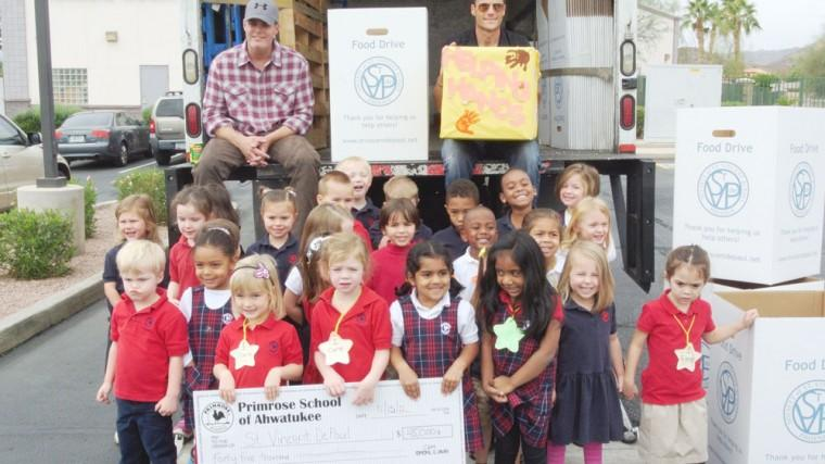 Primrose School of Ahwatukee donate to St. Vincent de Paul