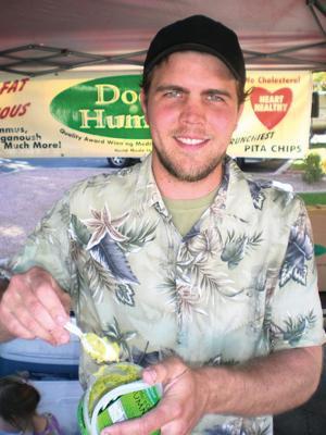 Dr. Hummus at the Holistic Farmer's Market