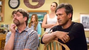 <p>It's been a rough day for suburban couple Jeff and Karen Gaffney (Zach Galifianakis, Isla Fisher) and their neighbors, the covert spies Mr. and Mrs. Jones (Gal Gadot, Jon Hamm).</p>
