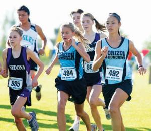 Horizon Honors girls cross country