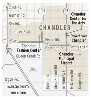 Chandler map