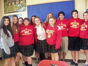 Seton French III students place first at ASU Foreign Language Fair