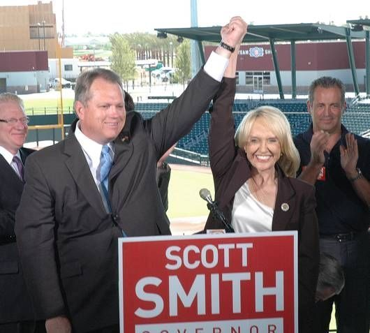Scott Smith and Jan Brewer