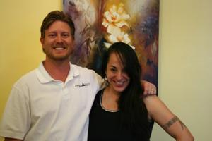 Dr. Clint Boscamp with Coralea Gosnell