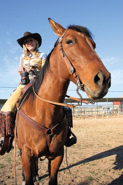 Cowboy mounted shooting event at Rawhide