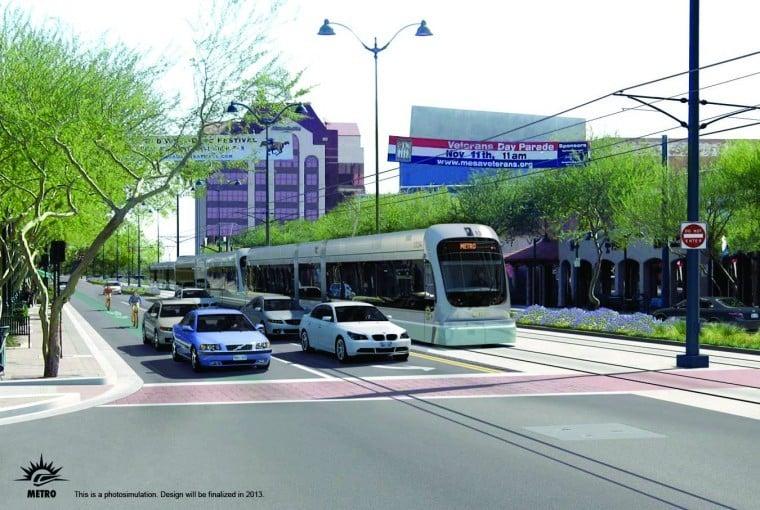 Light rail in Mesa