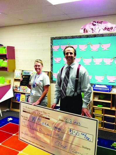 Lawyers show appreciation to teacher