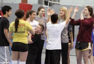 Volleyball Clinic for Special Olympics Arizona athletes