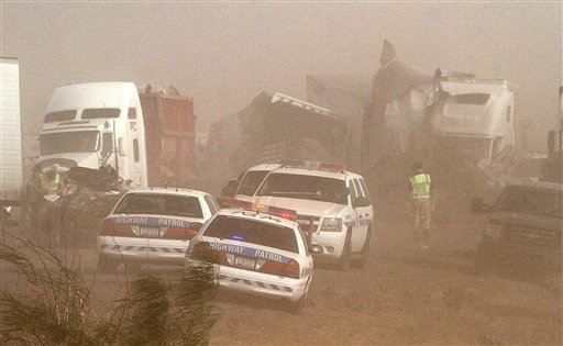 Arizona Dust Storm Crash