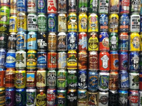 Canned beer