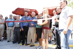 Ribbon cutting at Qdoba