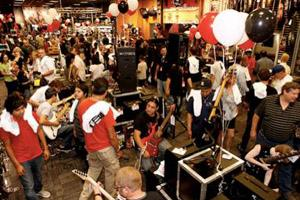 Guitar Center grand opening