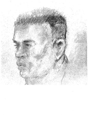 Sketch of man sought in Sousa dragging death