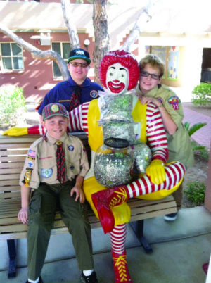 Ahwatukee Webelos make donation to Ronald McDonald House