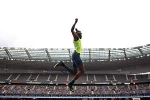 "<p>FILE - In this July 5, 2014, file photo, Will Claye, of the United States, competes in the triple jump event at the IAAF Diamond League athletics meet at the Stade de France in Saint-Denis, north of Paris, France. The 24-year-old is leaping into a new endeavor this summer, making an album that's titled, ""In the Wild."" (AP Photo/Thibault Camus, File)</p>"