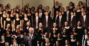 <p>Ron Carpenter, artistic director, conducts the Phoenix Children's Choir.</p>