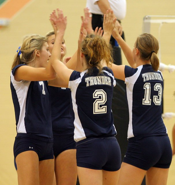PHOTO SLIDESHOW: Photos from Desert Vista girls volleyball's win over Hamilton